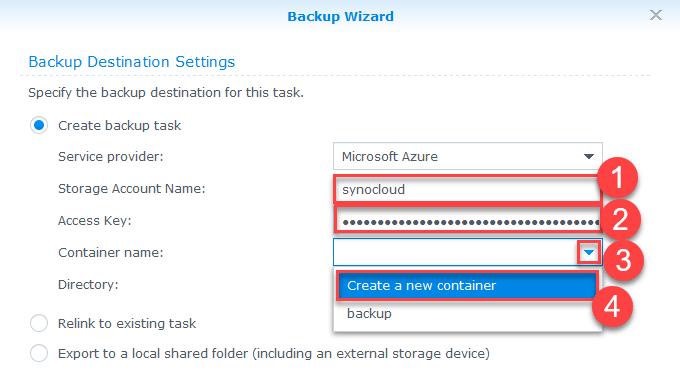 Configure Backup Synology NAS Azure Storage - IT for Dummies