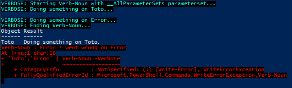PowerShell Advanced Function Template - Output Example