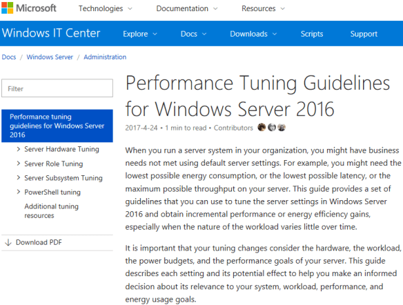 Windows Server 2016 Bible PDF - Performance Tuning