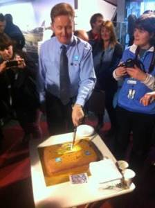 Glen Nagle cuts the mission cake