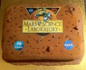MSL mission cake