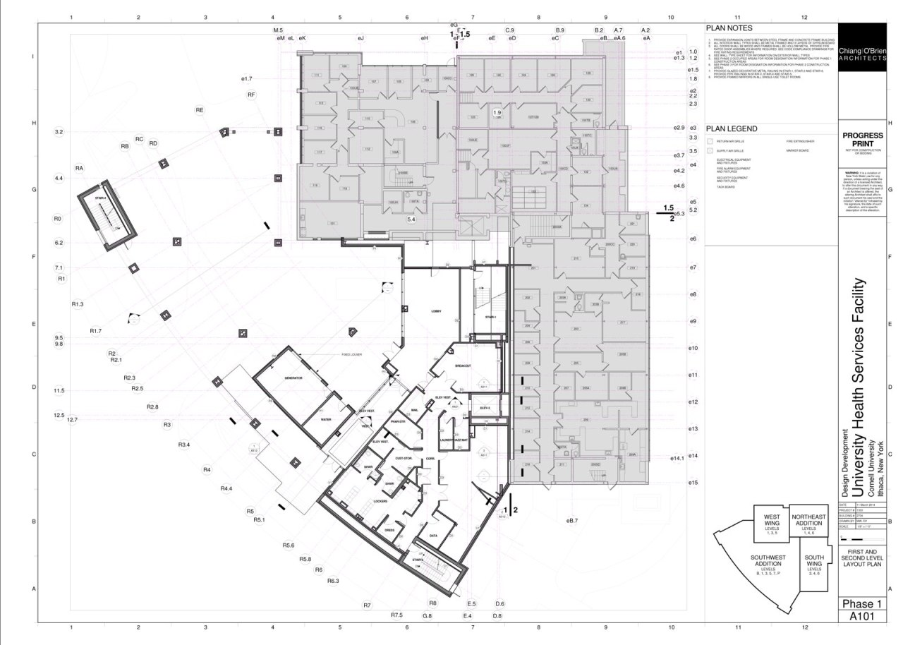 Pages from Gannett Health Services Building - SPR Application - Drawings - Phase 1 - 06-04-14_Page_1