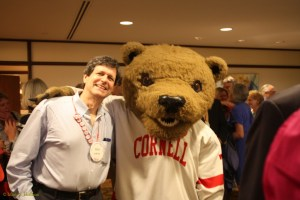 Mark Hoffman w Cornell Bear, Cornell 1970 Reunion 2015
