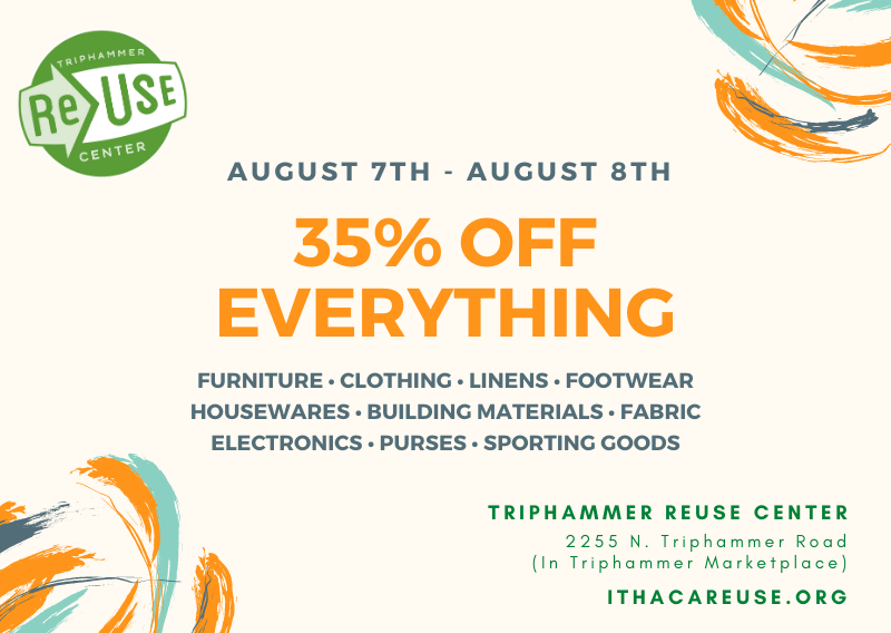 35% Off All Furniture, Clothing, Electronics, Housewares and More At Triphammer ReUse Center
