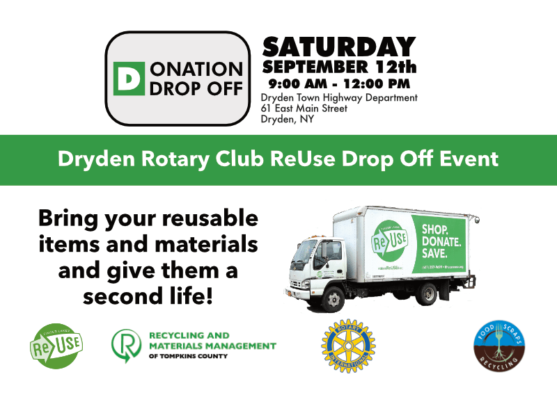 Dryden Rotary Club to Host ReUse Drop Off Event