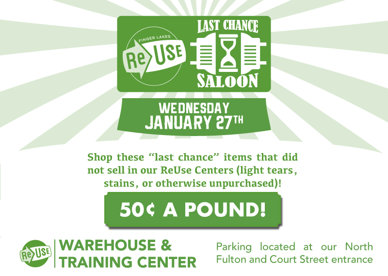 Take One More Look At ReUse's Last Chance Saloon Sale Event!