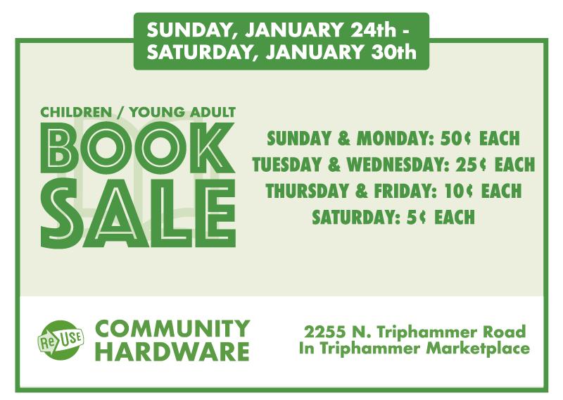 Children's / YA Book Sale At ReUse Community Hardware