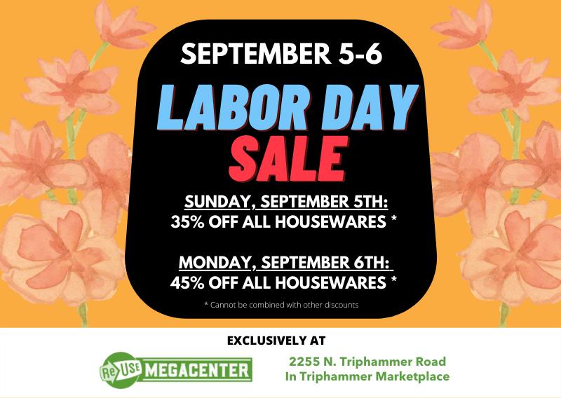 Labor Day Sale At ReUse MegaCenter
