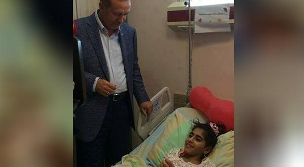 أردوغان يزور الجرحى الفلسطينيين في أنقرة