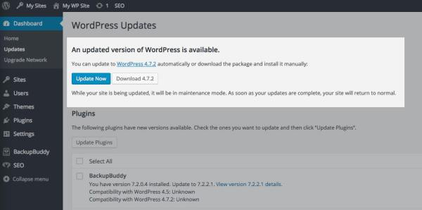Update to WordPress 4.7.2 Immediately