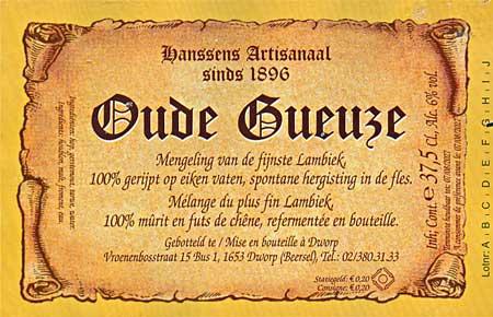 Hanssens Oude Gueuze