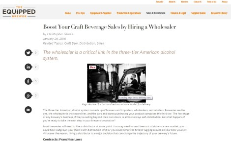 Equipped Brewer - Wholesaler Tips