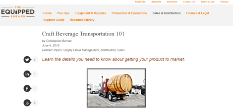 Equipped Brewer - Transportation