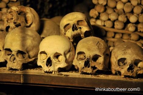Skulls in Sedlec Ossuary/Bone Chapel of Kutna Hora