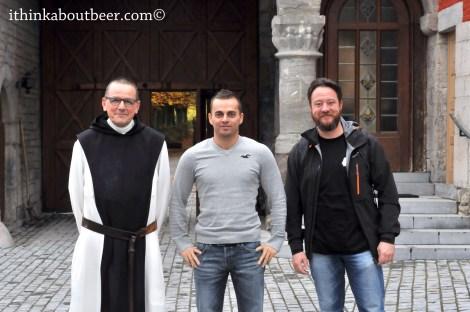 Friar Pierre and Benoit Minet of Rocherfort, Kevin Desmet of belgianbeergeek.be