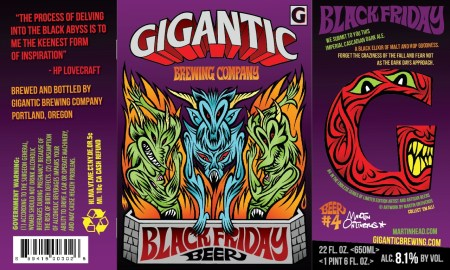 Gigantic Brewing Black Friday Beer