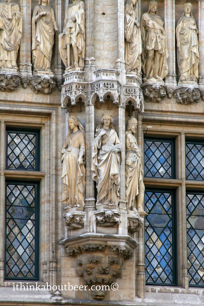 A Closeup of the Statues