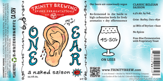Trinity One Ear Naked Saison