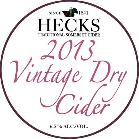 Hecks Vintage Dry Cider 2013