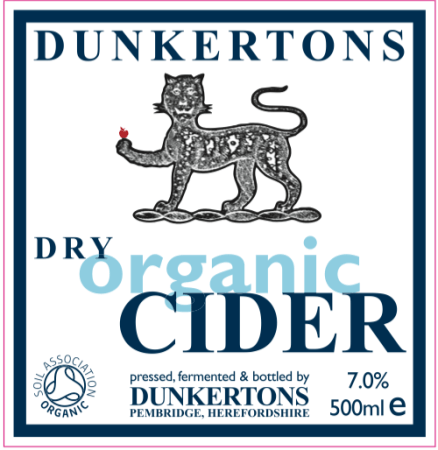 Dunkertons Dry Organic Cider