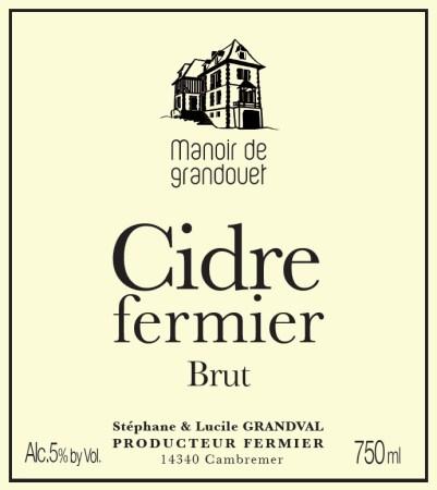 Manoir de Grandouet Cidre Fermier Brut
