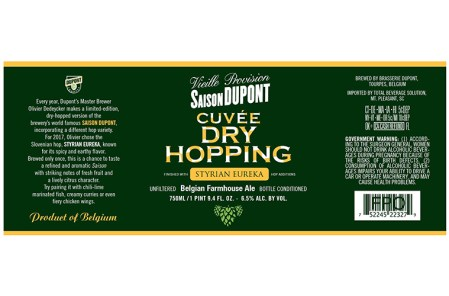 Saison Dupont Dry Hopping 2017 Styrian Eureka