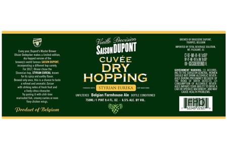 Saison Dupont Dry Hopping Styrian Eureka