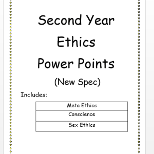 Second Year Ethics PowerPoints