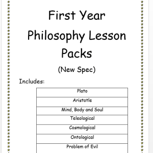 First Year Philosophy Lesson Packs