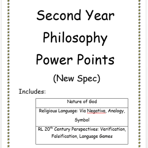 Second Year Philosophy PowerPoints