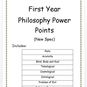 First Year Philosophy PowerPoints