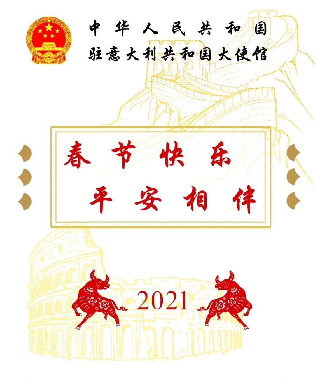 驻意大使馆:提高自我保护意识,过一个平安祥和的新春佳节 意国综合 第1张