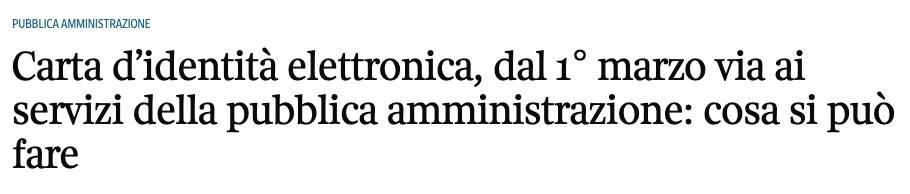 3月起意大利正式推行电子身份证!用途更多,办理方法如下 生活百科 第1张