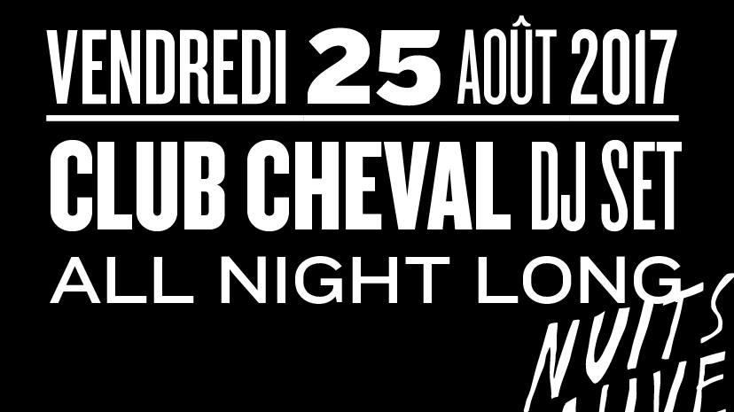 Jeux concours - Soirée Club Cheval le 25 août aux Nuits Fauves