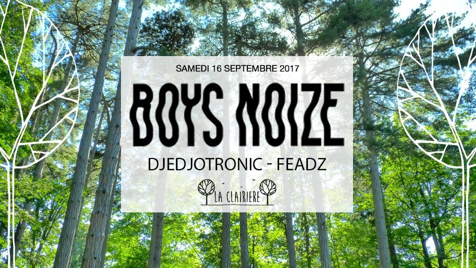Jeux concours - Soirée Boys Noize, Djedjotronic, Feadz le 16 septembre à La Clairière