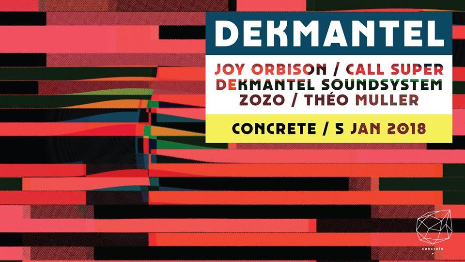 Jeux concours - Soirée Concrete X Dekmantel le 5 janvier
