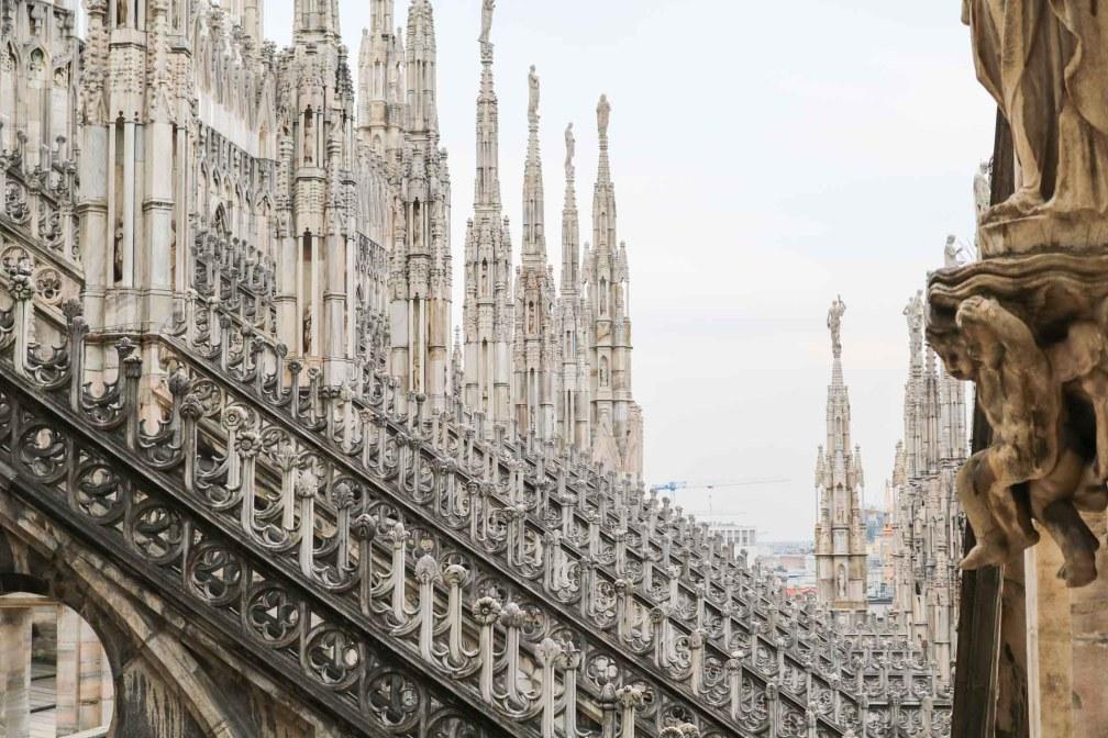 Cathédrale de Milan terrasse