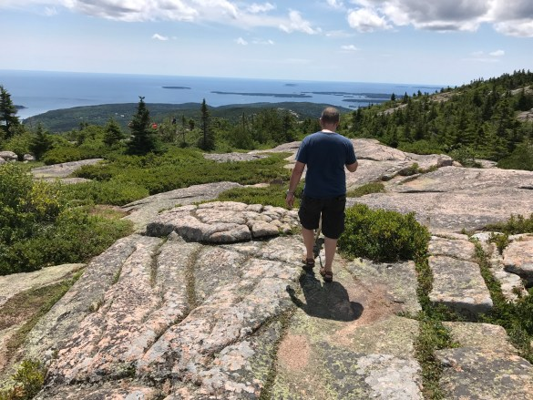At the top of Cadillac Mountain, Acadia National Park