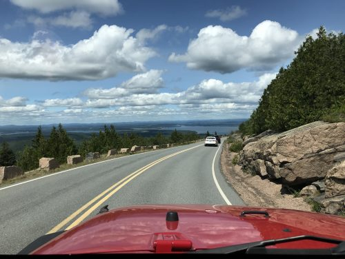 Driving Cadillac Mount, Acadia National Park