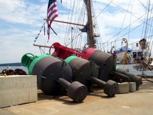 Look At the Size of These Buoys - Ready to Be Deployed at coast Guard Station