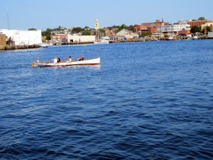 Rowing Scull - Gloucester Harbor