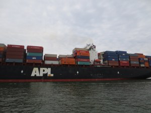 Up Close to a Container Ship