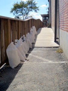 A Line of Sand Bags