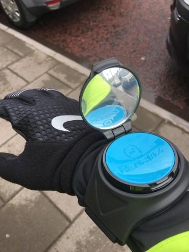 Is it a wrist-mounted mirror