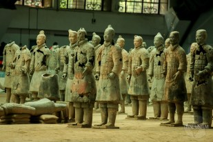 Terracotta soldiers , not fully restored