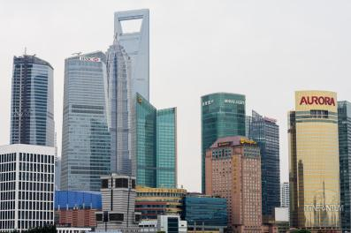 Pudong skyscrapers in Shanghai