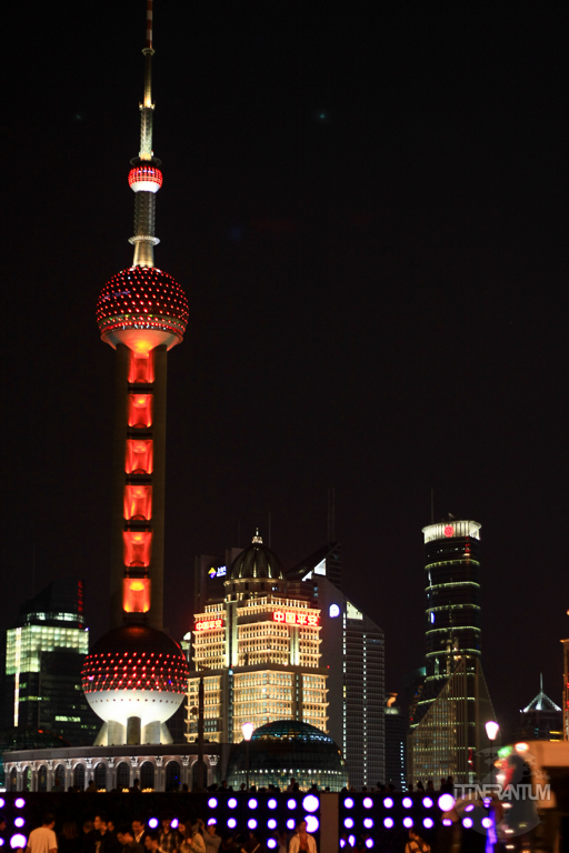 Shanghai city scape by night