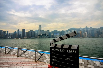 a director's cut board on the Avenue of the stars, Hong Kong