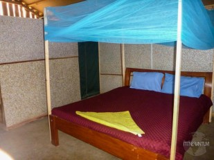 Inside our tent in Amboseli