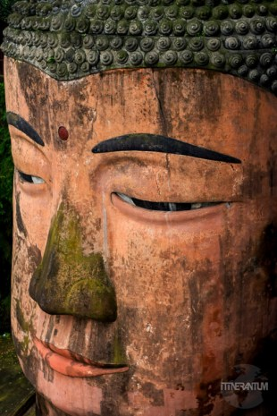 the face of Leshan Giant Buddha